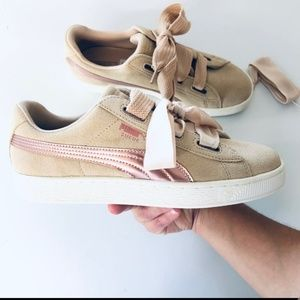 PUMA SALE  SUEDE RIBBON LACE SAFARI